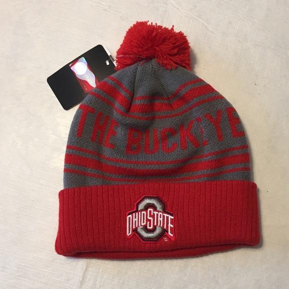 separation shoes ee3dd 51789 ... discount ohio state buckeyes cuffed knit hat beanie w pom dc8af b161c